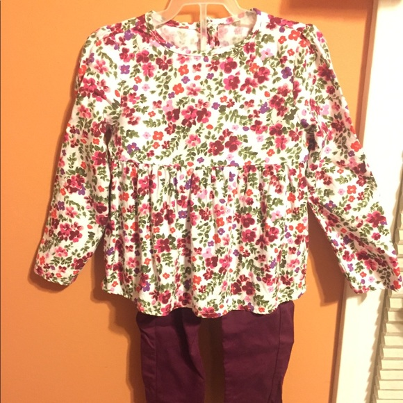Carter's Other - Floral shirt with matching pants